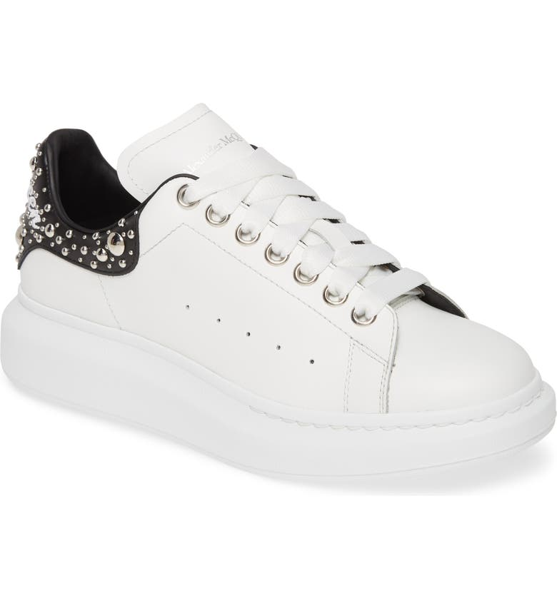 ALEXANDER MCQUEEN Oversize Sneaker, Main, color, WHITE/ BLACK/ WHITE