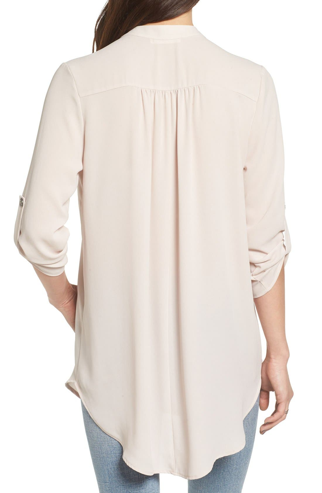 ,                             Perfect Roll Tab Sleeve Tunic,                             Alternate thumbnail 209, color,                             087