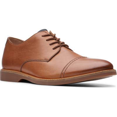 Clarks Atticus Cap Toe Oxford- Brown