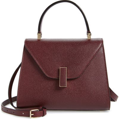 Valextra Iside Mini Top Handle Bag - Burgundy