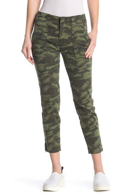 Image of KUT from the Kloth Reese Camo Ankle Straight Leg Pants