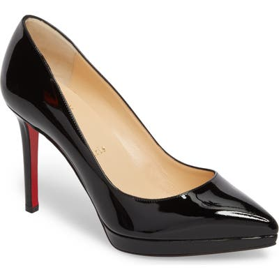 Christian Louboutin Pigalle Plato Pointy Toe Platform Pump, Black