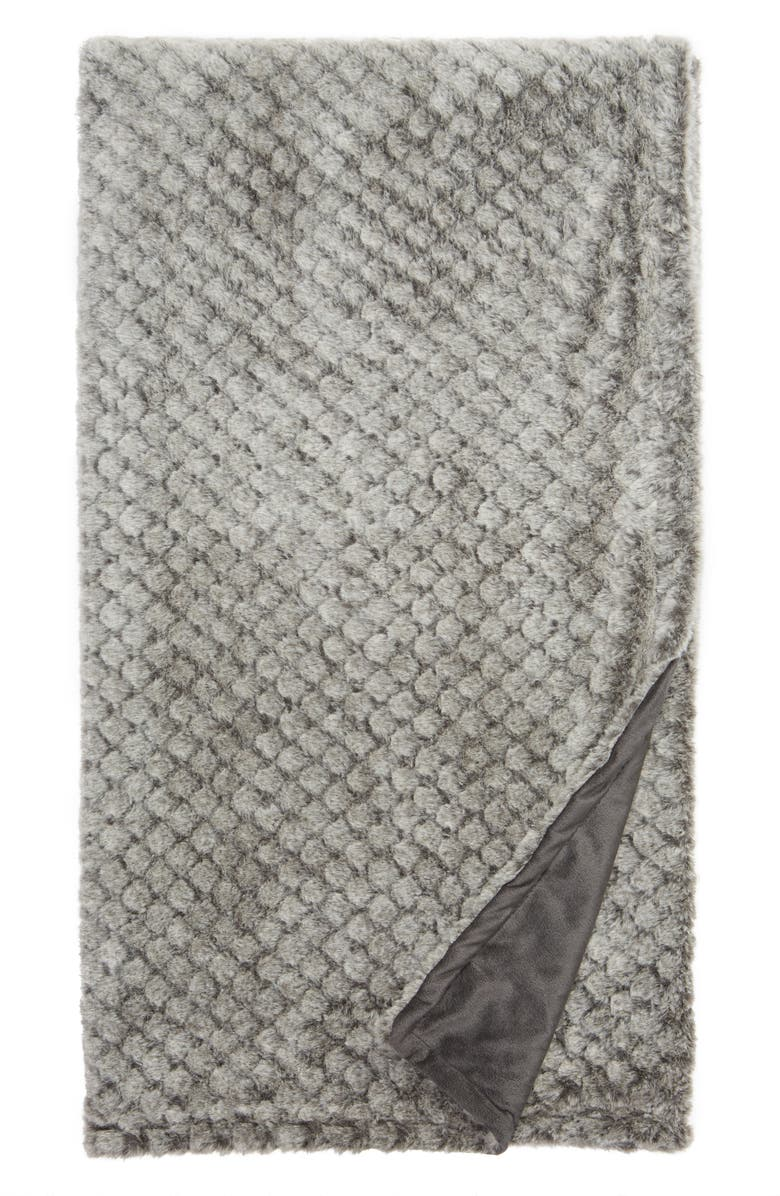 NORDSTROM AT HOME Diamond Plush Throw, Main, color, 021