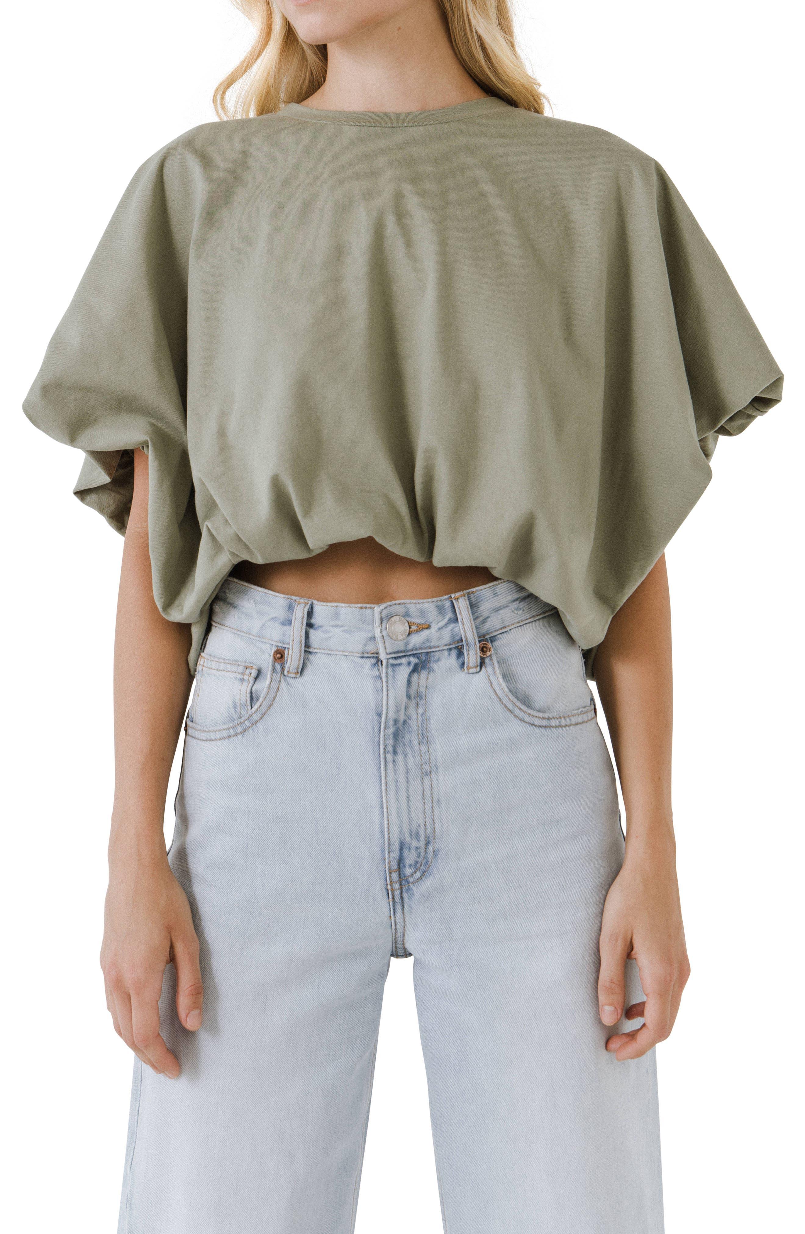 High/low Crop T-Shirt