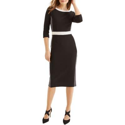 Boden Leah Ottoman Sheath Dress, Black