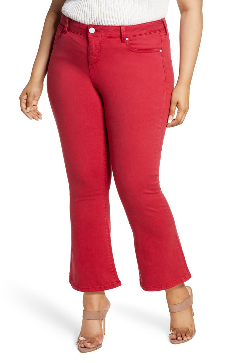 SLINK JEANS High Waist Ankle Bootcut Jeans, Main, color, CHILI PEPPER