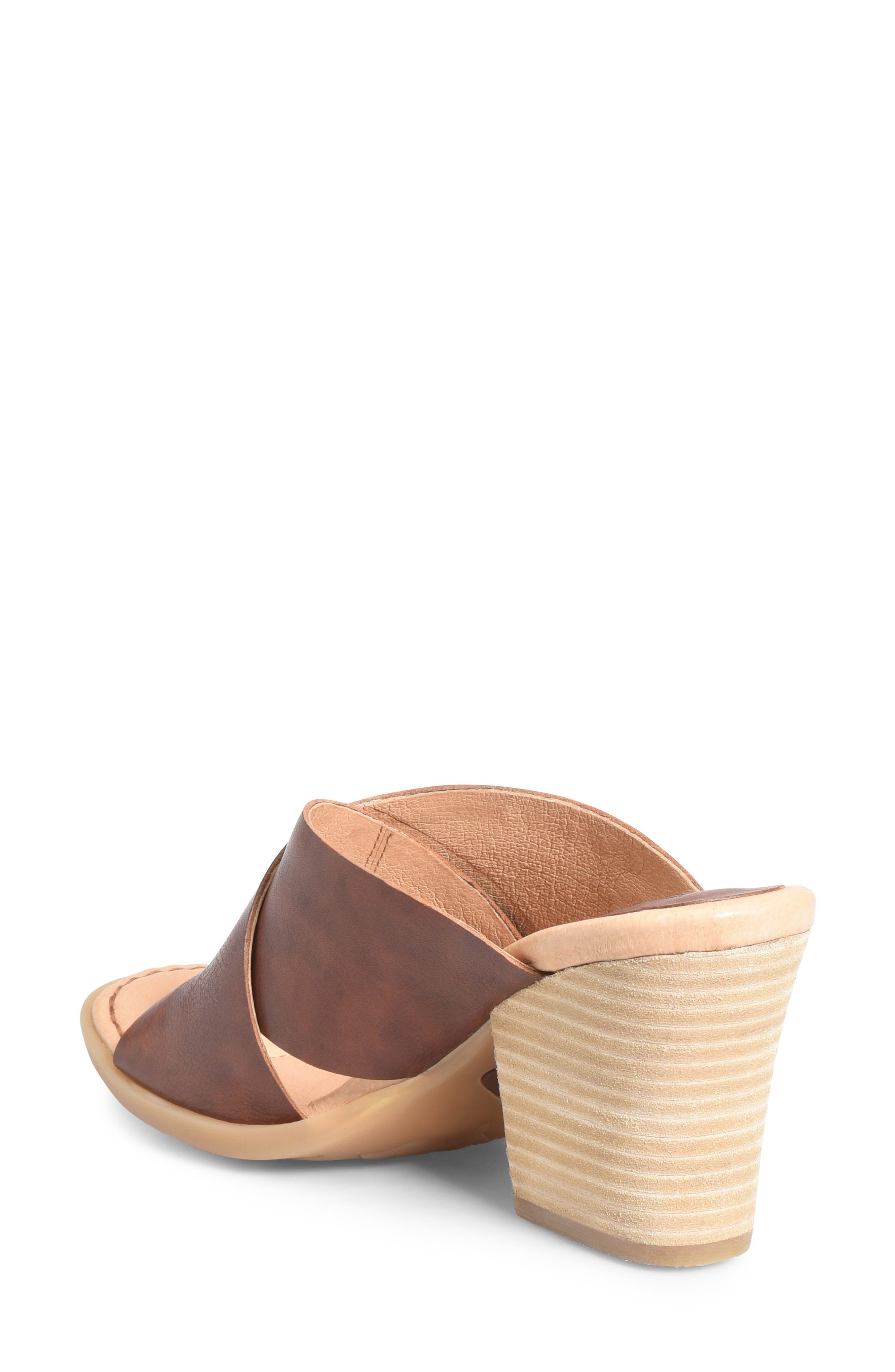 ,                             Madison Cross Strap Slide Sandal,                             Alternate thumbnail 2, color,                             BROWN LEATHER