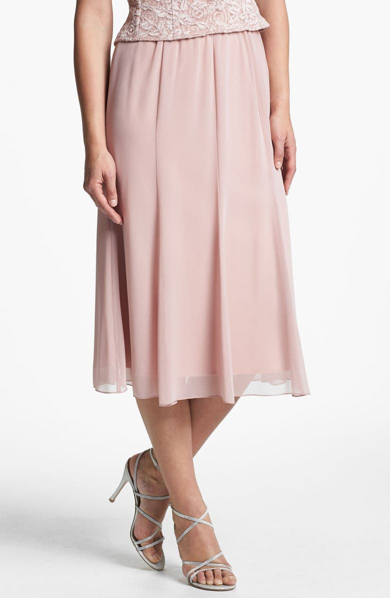 ALEX EVENINGS Chiffon Skirt, Main, color, 652