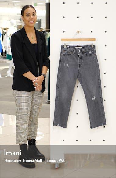 Wedgie High Waist Crop Straight Leg Jeans, sales video thumbnail