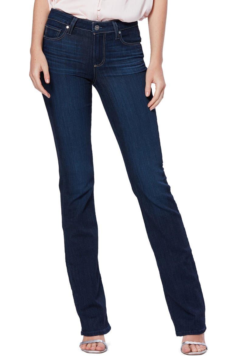 PAIGE Transcend - Manhattan Bootcut Jeans, Main, color, THE 101