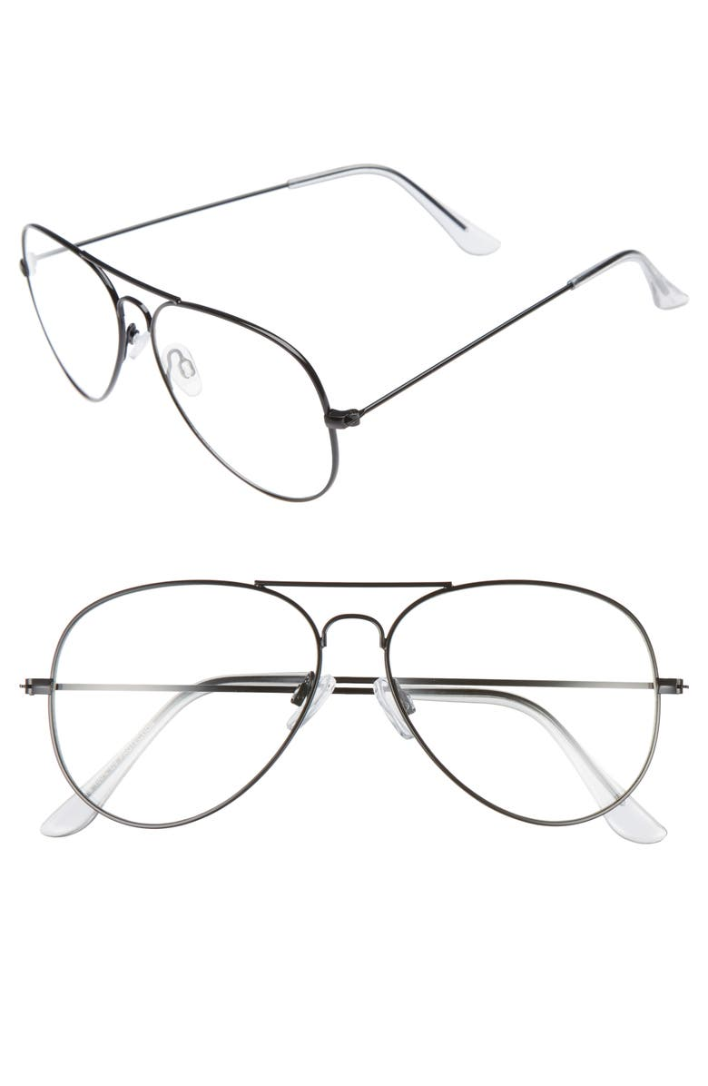 BP. Mirrored Aviator 57mm Sunglasses, Main, color, 005