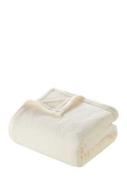 Image of Chic Home Bedding Full/Queen Savaya Fleece Blanket - Beige