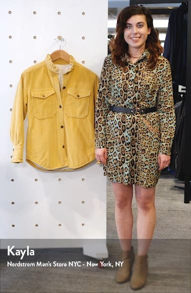 Ruffle Detail Cotton Corduroy Jacket, sales video thumbnail