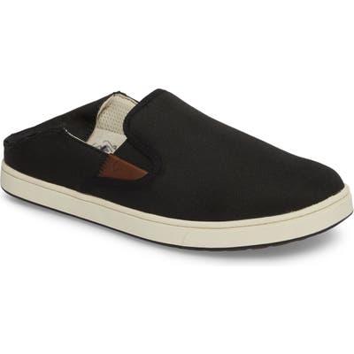 Olukai Kahu Collapsible Slip-On Sneaker, Black