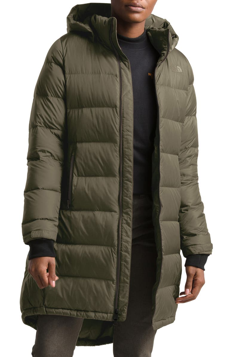 THE NORTH FACE Metropolis III Hooded Water Resistant Down Parka, Main, color, NEW TAUPE GREEN