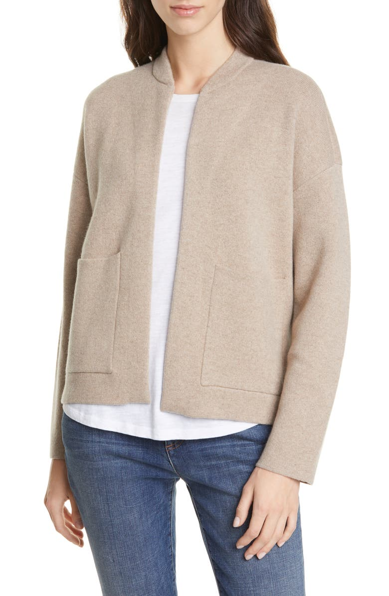 EILEEN FISHER Flight Recycled Cashmere Blend Cardigan, Main, color, 268