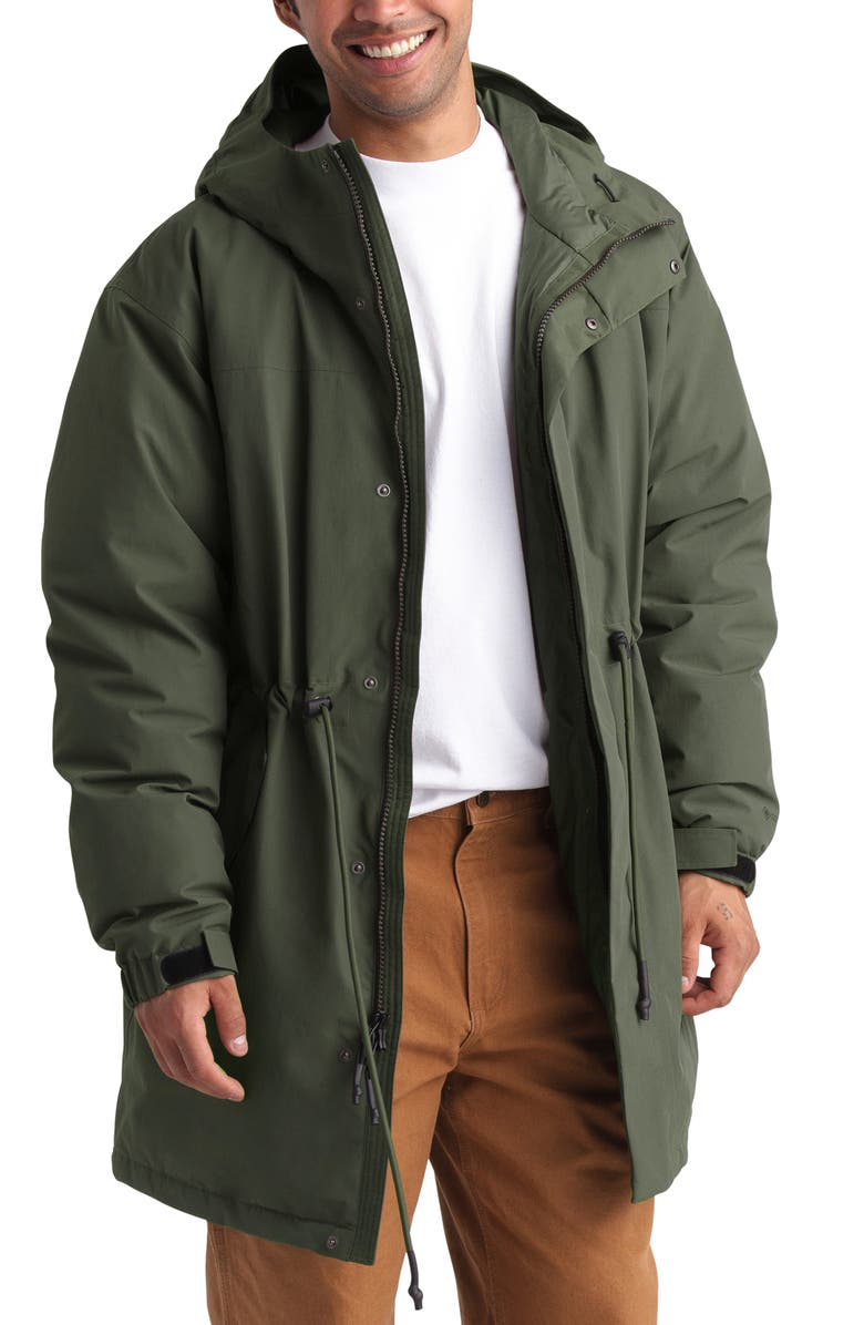 THE NORTH FACE Stratus Gore-Tex<sup>®</sup> 550 Fill Power Down Parka, Main, color, NEW TAUPE GREEN
