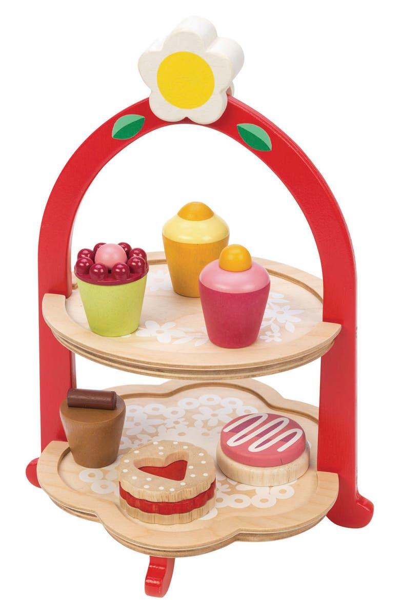 TENDER LEAF TOYS Afternoon Tea Stand Play Set, Main, color, MULTI
