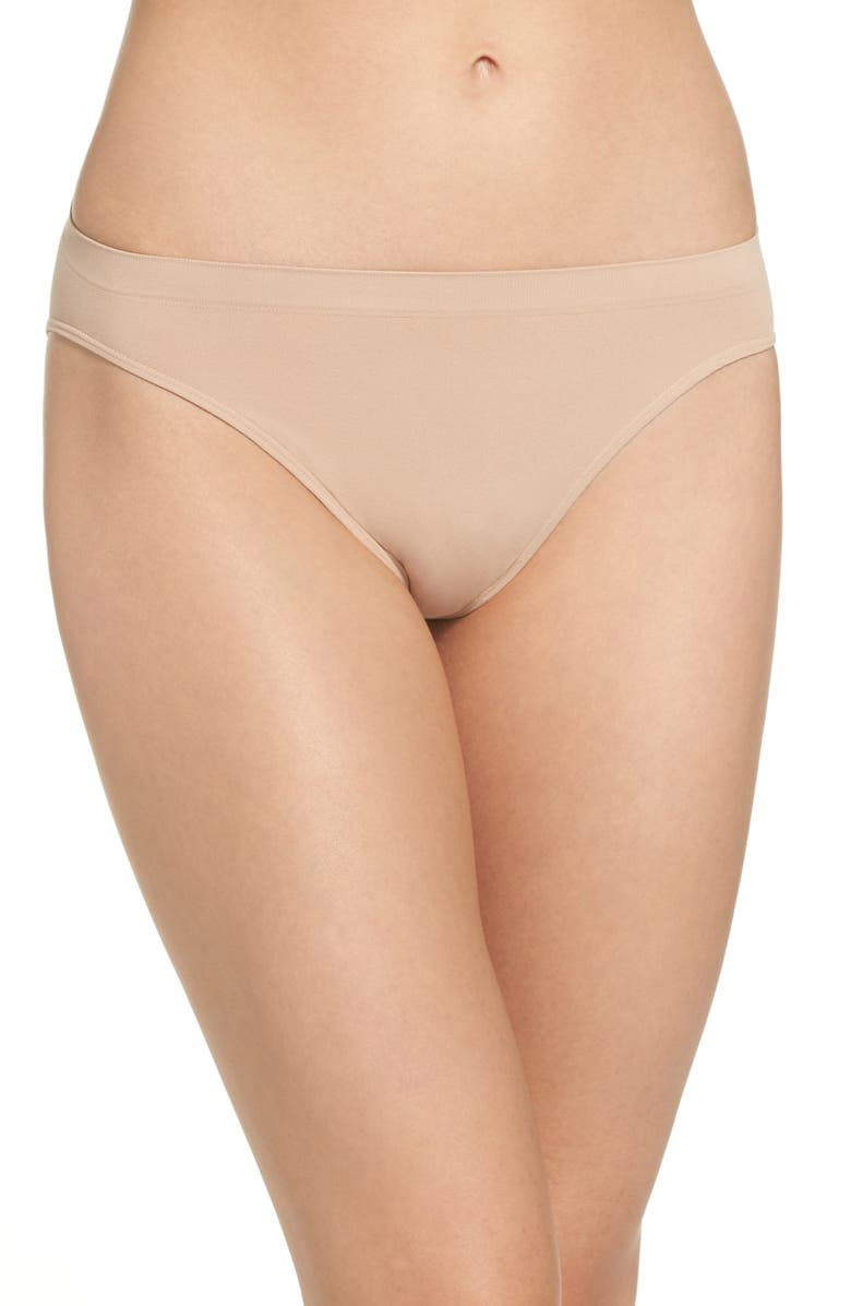 HALOGEN<SUP>®</SUP> Seamless High Cut Briefs, Main, color, BEIGE BRUSH