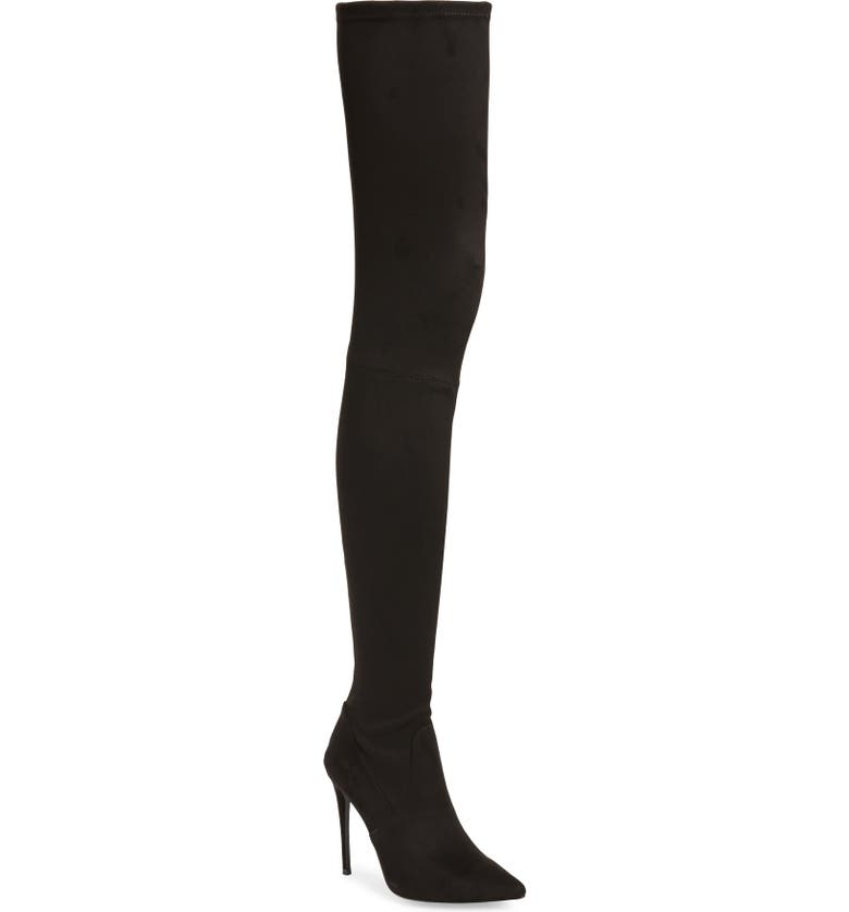 STEVE MADDEN Domain Thigh High Boot, Main, color, BLACK