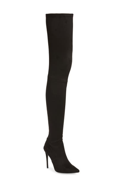 Steve Madden Domain Thigh High Boot In Black