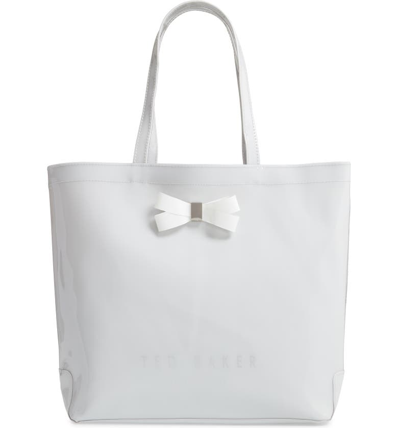 TED BAKER LONDON Large Gabycon Bow Detail Icon Tote, Main, color, 020