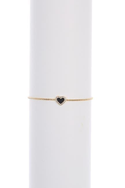 Image of DKNY Halo Heart Bolo Bracelet