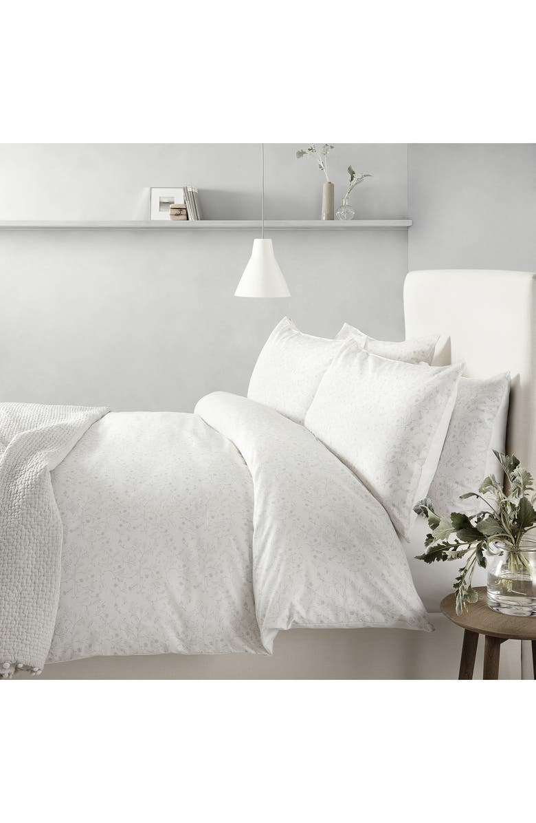 THE WHITE COMPANY Florence Duvet Cover, Main, color, WHITE/ GREY
