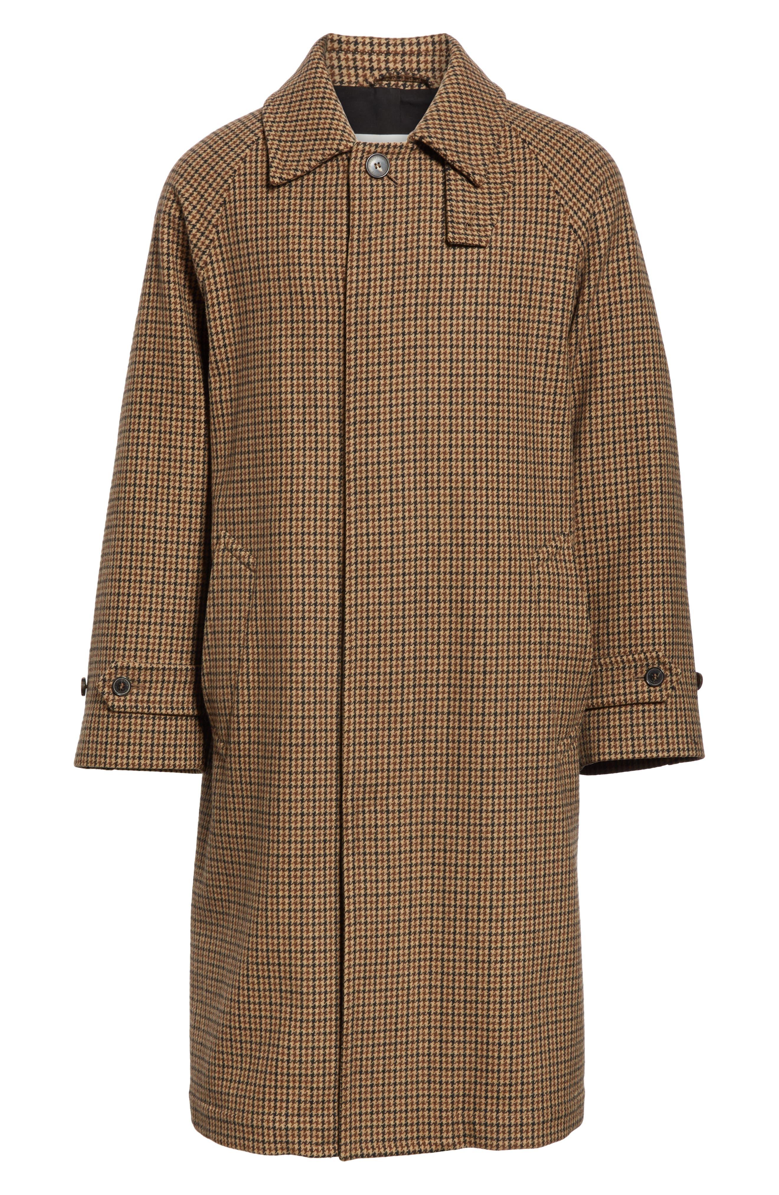 Gents Gun Club Check Virgin Wool Coat, Main, color, GUNCLUB