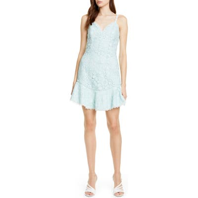 Alice + Olivia Rapunzel Lace Cocktail Minidress, Blue