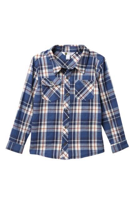 Image of Petit Lem Long Sleeve Buttoned Plaid Shirt