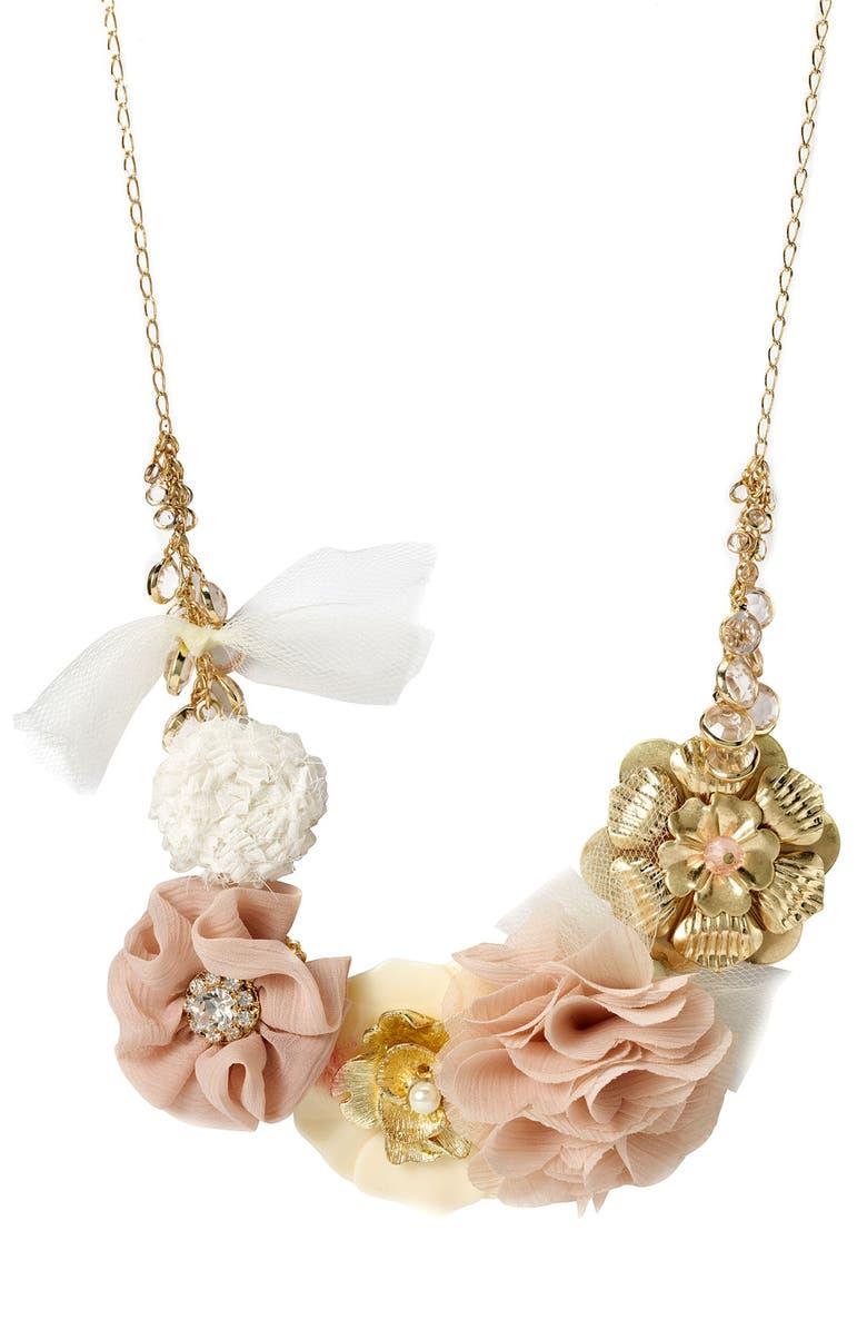 TASHA Flower Statement Necklace, Main, color, 220
