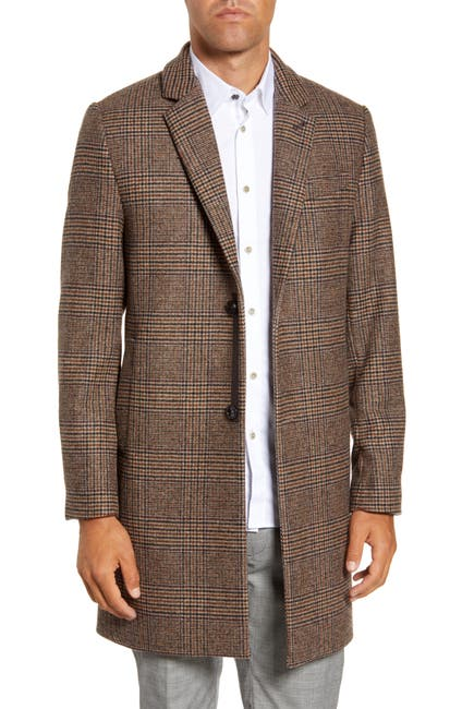 Image of Ted Baker London Rhyl Heritage Check Overcoat