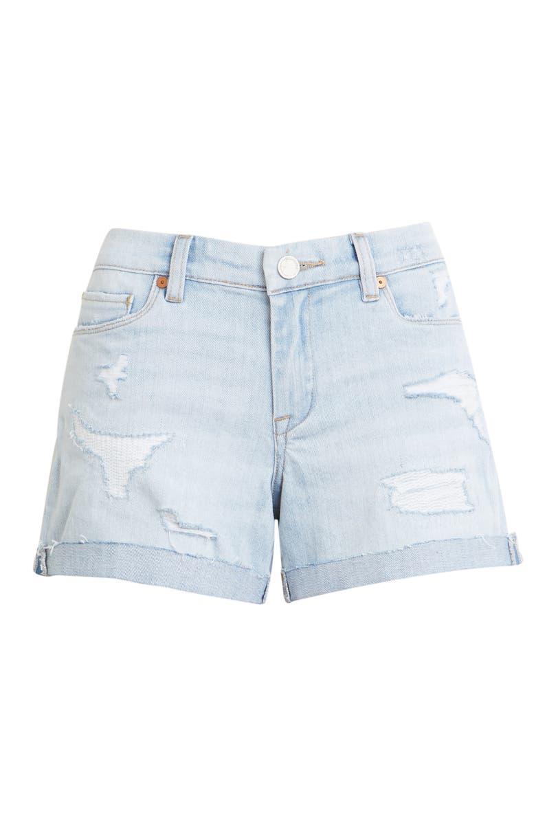 BLANKNYC Boyfriend Denim Shorts, Main, color, MARITIME