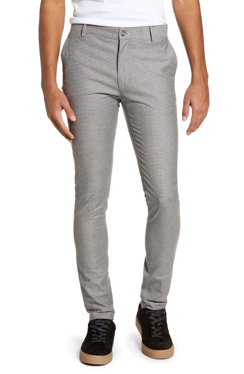 TOPMAN Stretch Skinny Fit Chinos, Main, color, GREY