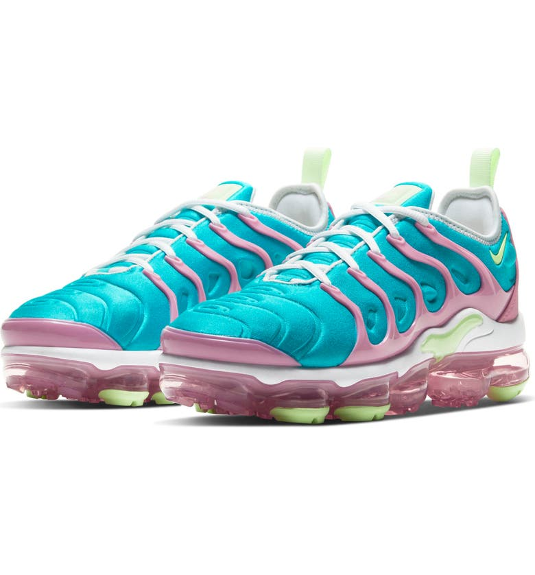 NIKE Air VaporMax Plus Sneaker, Main, color, WHITE/ BARELY VOLT