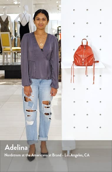 Mini Julian Snake Embossed Leather Convertible Backpack, sales video thumbnail