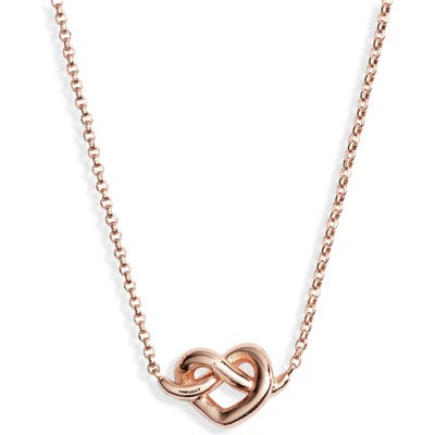 Kate Spade New York Loves Me Knot Mini Pendant Necklace