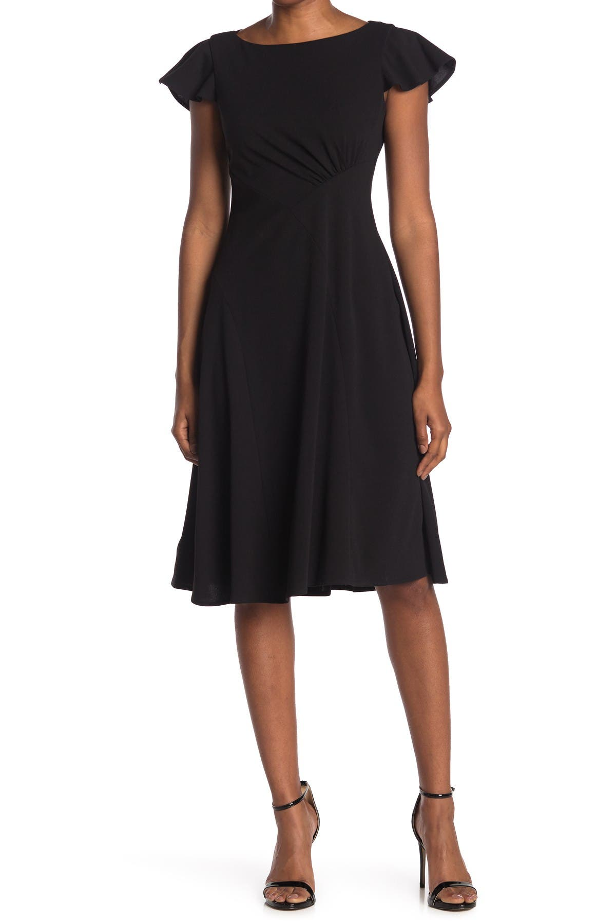 Image of Calvin Klein Women Flutter Sleeve Shift Dress