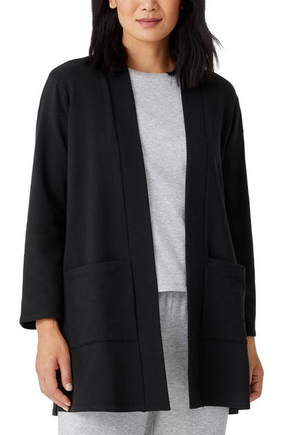 Eileen Fisher HIGH COLLAR OPEN FRONT JACKET