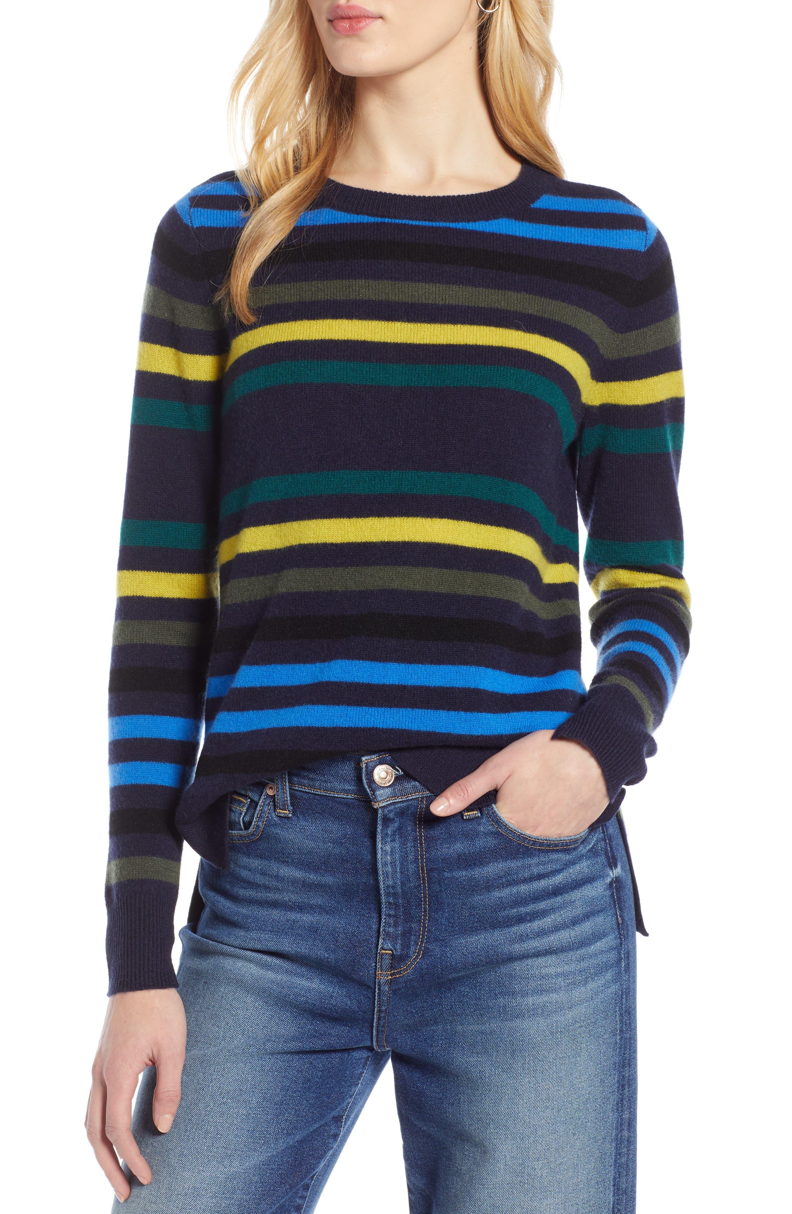 ,                             Crewneck Cashmere Sweater,                             Main thumbnail 102, color,                             412