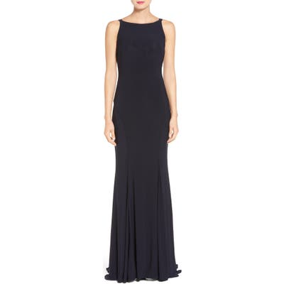 Ieena For MAC Duggal Jersey Gown, Blue
