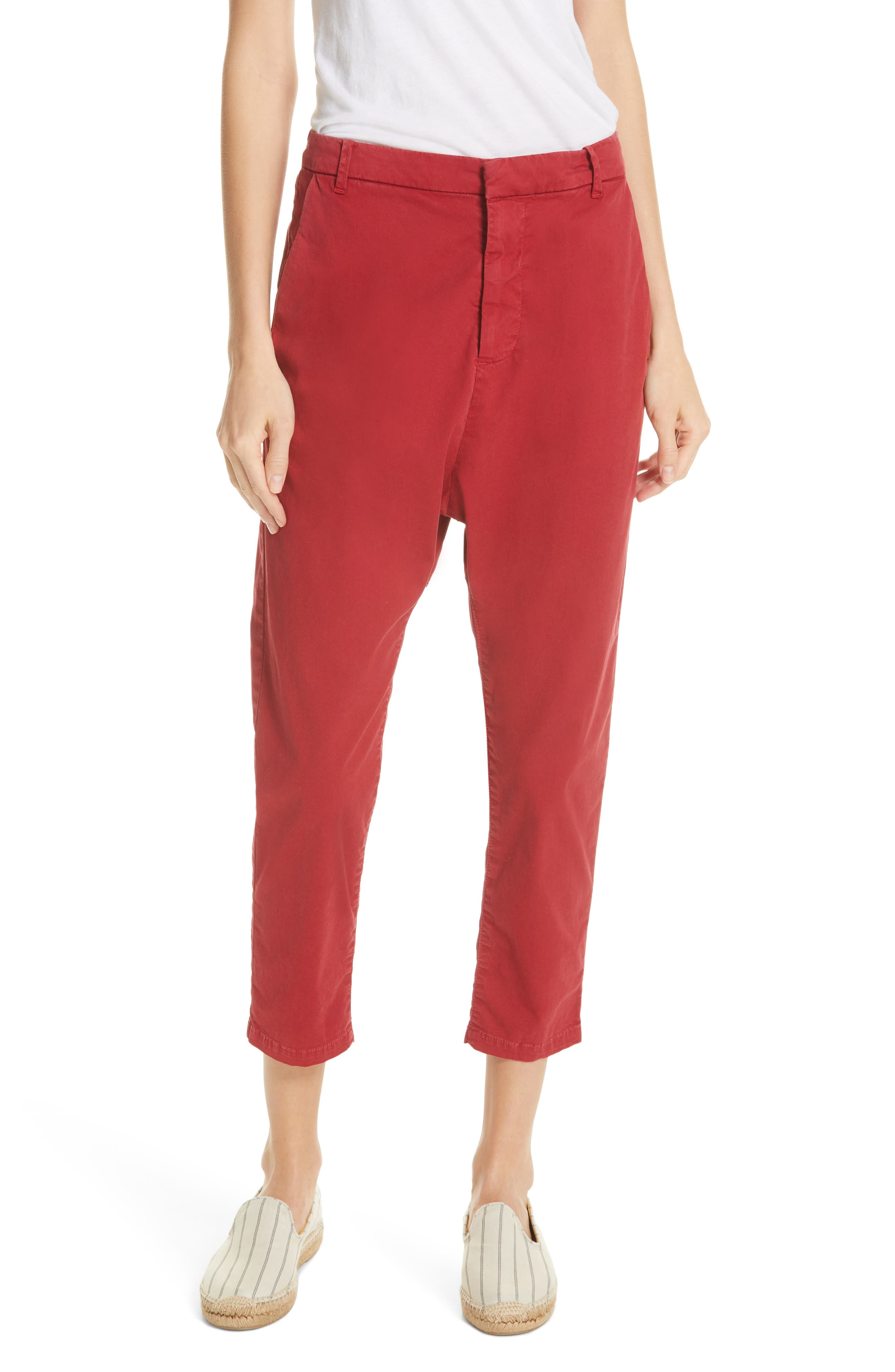 ,                             Paris Pants,                             Main thumbnail 1, color,                             SUNKISSED RED