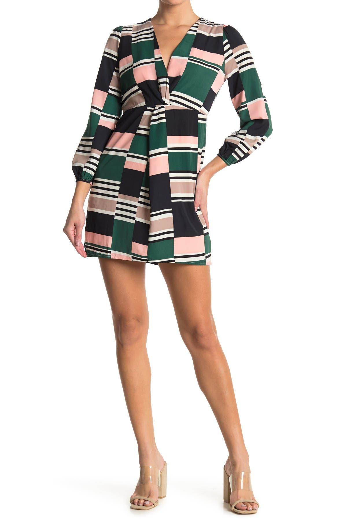 Image of LOST + WANDER Desert Springs Geo Print Mini Dress