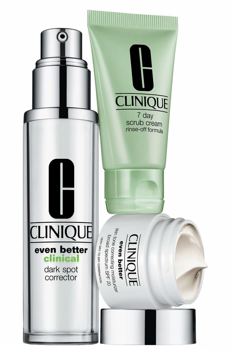 CLINIQUE 'Even Better' Skincare Set, Main, color, 000