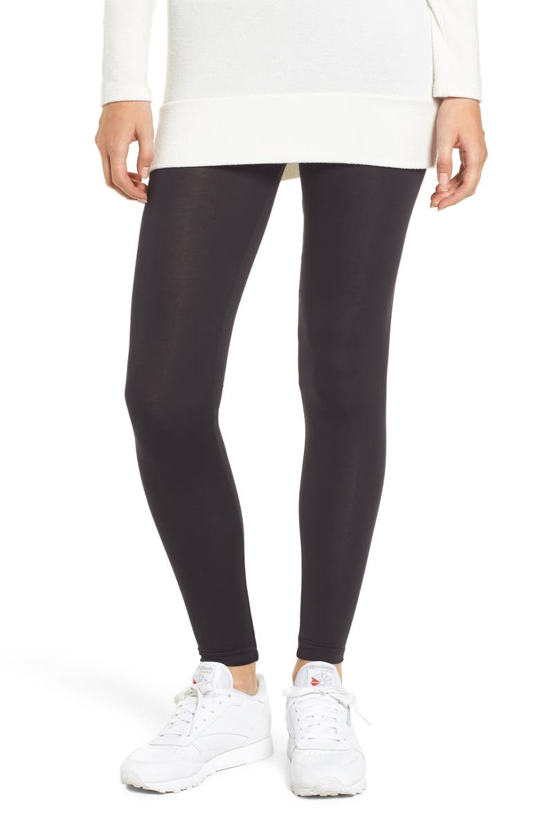 AMOUR VERT Donna Leggings, Main, color, BLACK