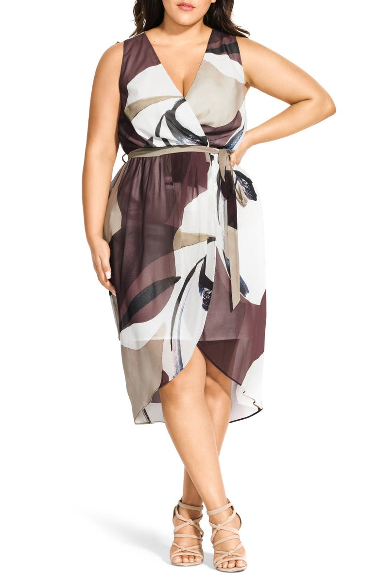 CITY CHIC Mirage Sheath Dress, Main, color, 100