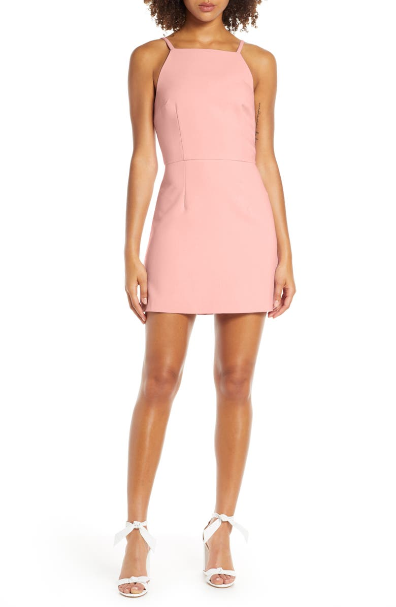 FRENCH CONNECTION Whisper Light Sheath Minidress, Main, color, TRUE BLOSSOM