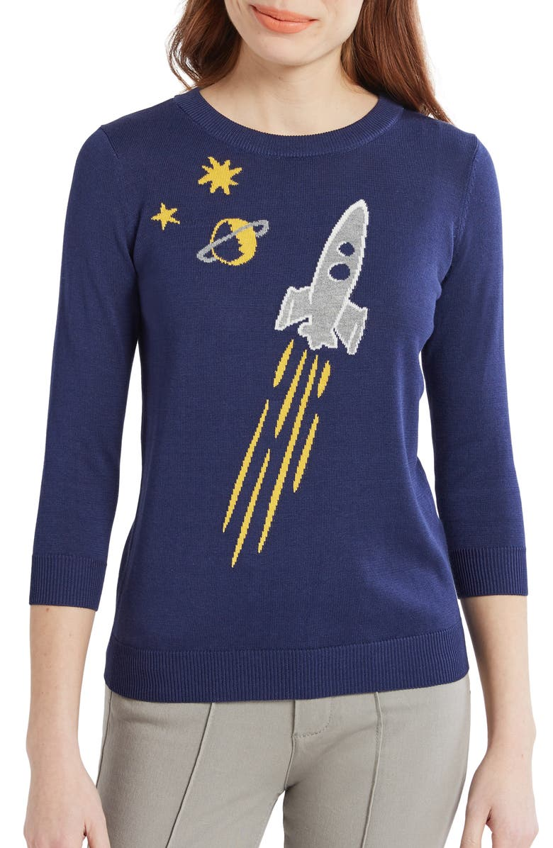 MODCLOTH Rocket Intarsia Sweater, Main, color, 410