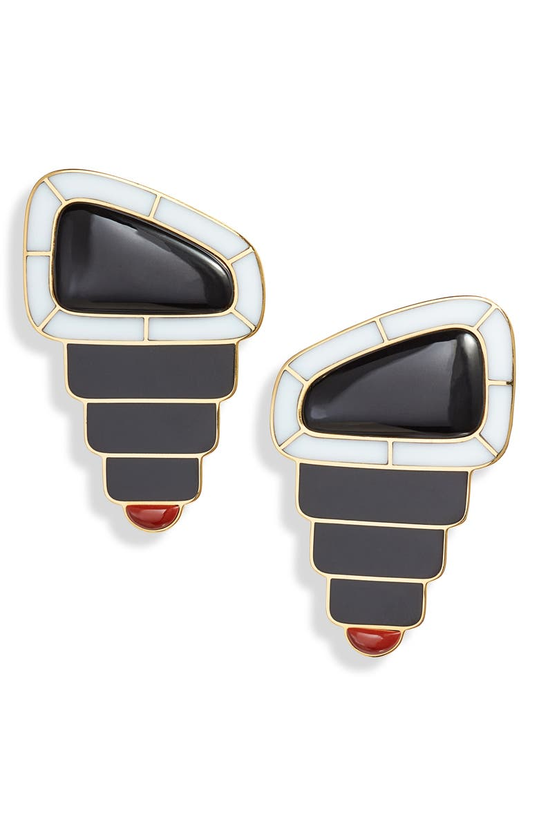 MONICA SORDO Samay Drop Earrings, Main, color, WHITE/ RED JASPER/ RHODONITE